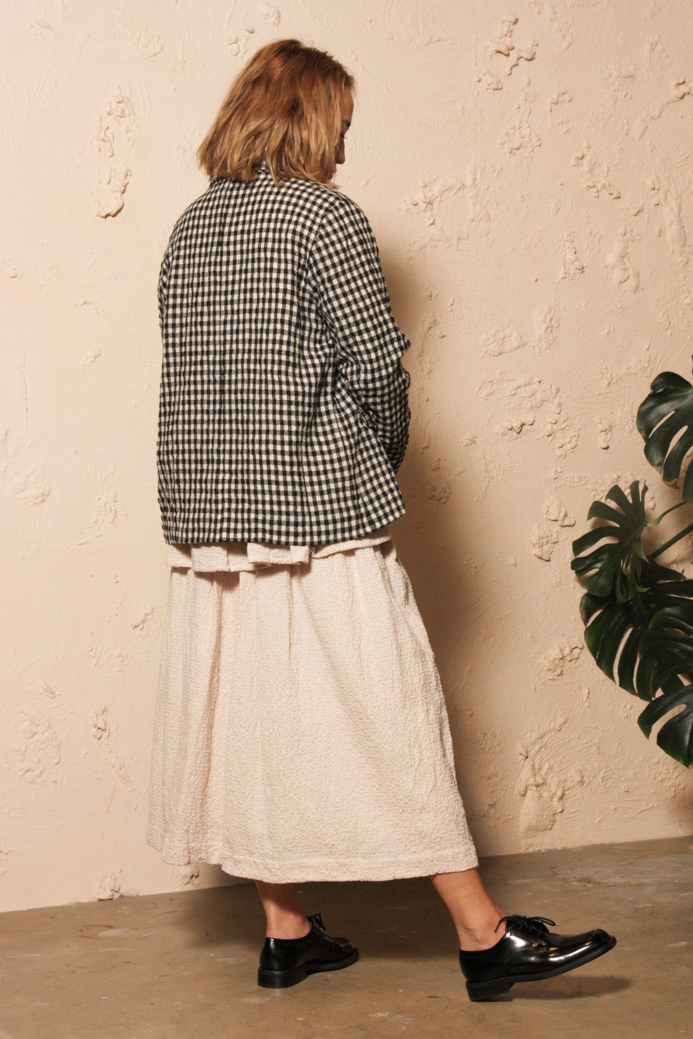 Gingham Jacket Natural