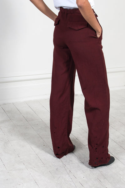 Treated Relaxed Trousers