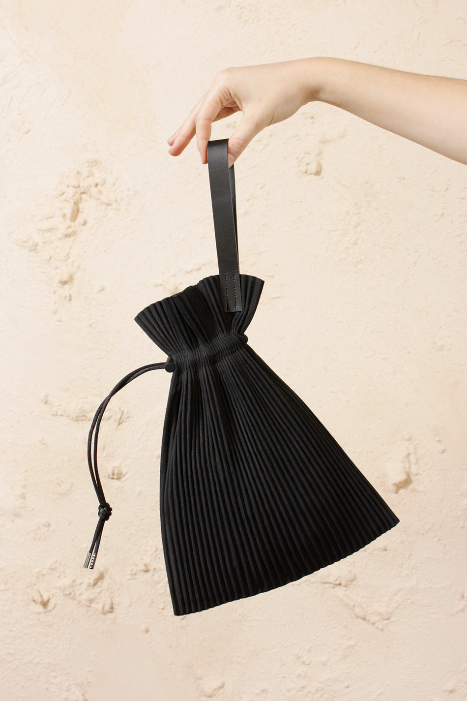 Pleated Drawstring Pouch