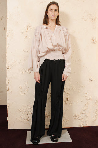 Shirring Detail Trousers