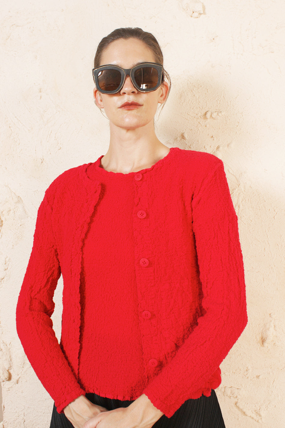 Cauliflower Cardigan Red