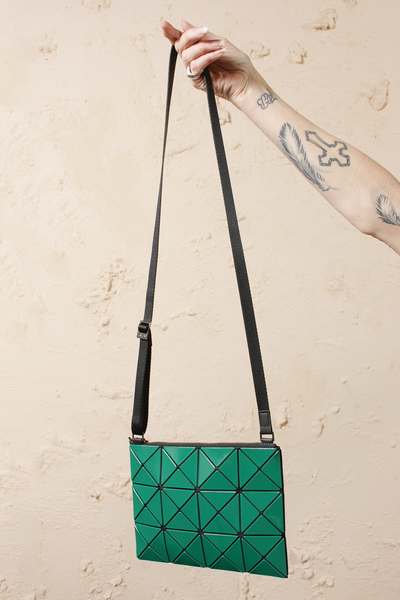 Small Lucent Two Tone Crossbody Green