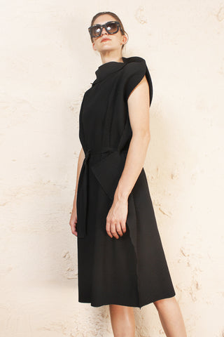 Soft Pleated Oversized Dress