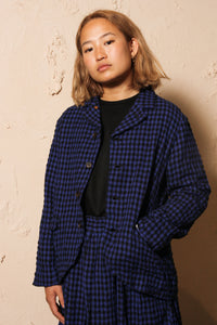 Gingham Jacket Blue