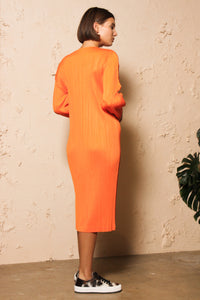Long Sleeve Dress Orange