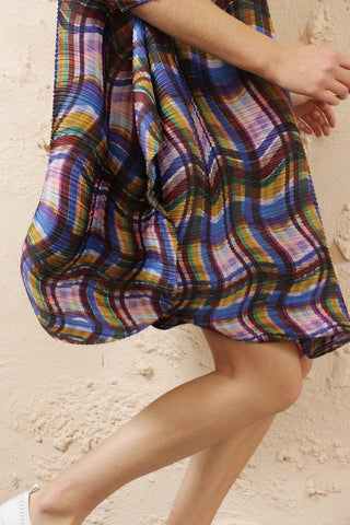 Abstract Tartan Tunic