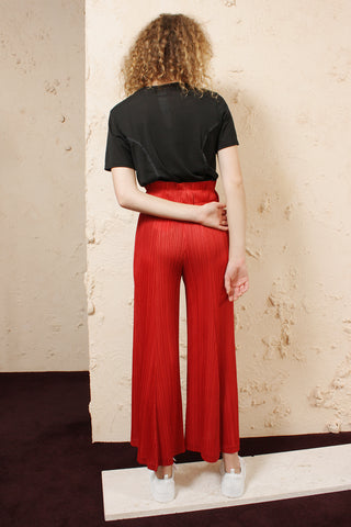 Red Wide Leg Trouser