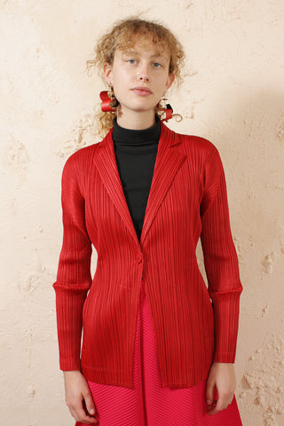 Simple Red Cardigan