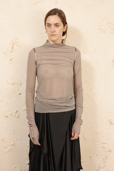 Sheer Long Sleeve Mushroom