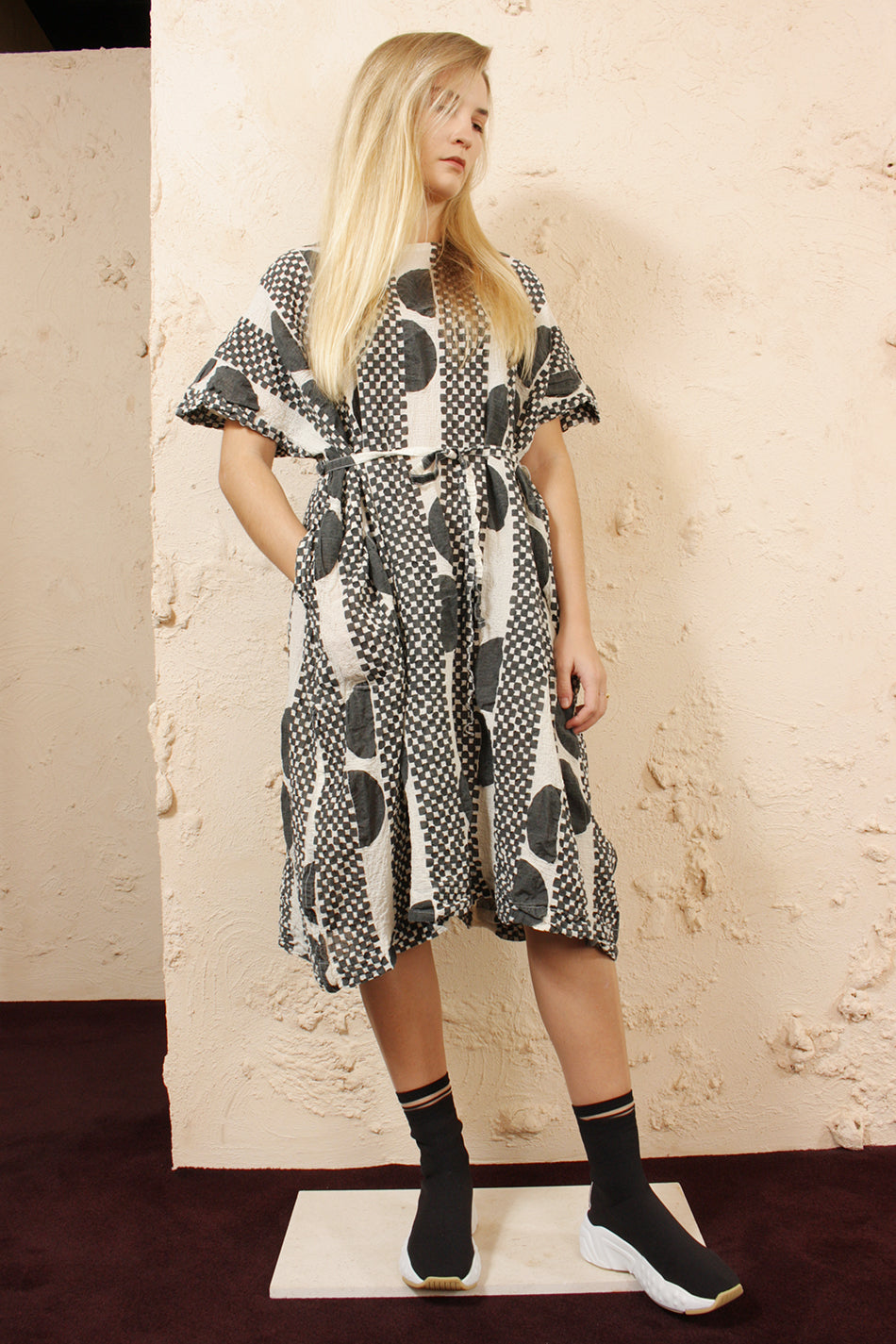 Printed Cauliflower Dress