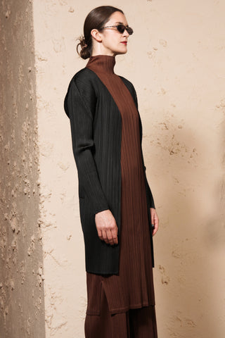 Long Open Cardigan Black