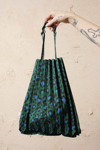 Leopard Printed Bag Green