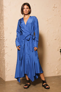 Dunya Silk Wrap Dress