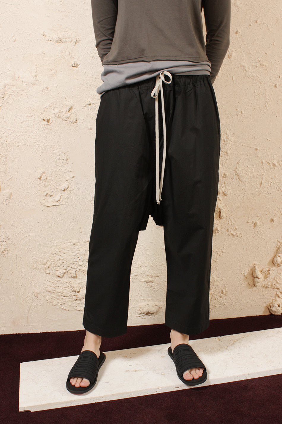 Drawstring Cropped Trouser