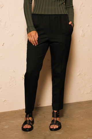 Perun Black Virgin Wool Trouser