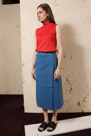 Wax Cotton Skirt Uniform