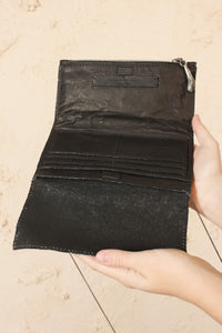 Anima Calf Wallet Carbon