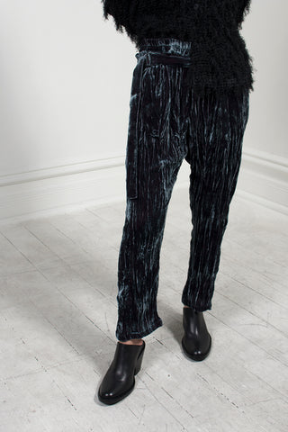 Strisch Velvet Trouser