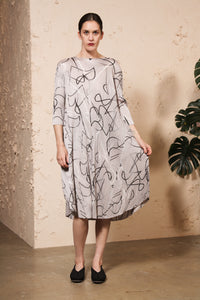 Conductor Printed Dress