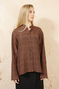 TARA ORANGE CHECK SHIRT