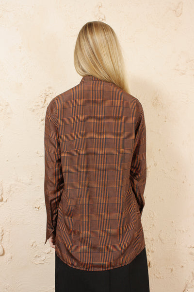 Tara Orange Check Skirt