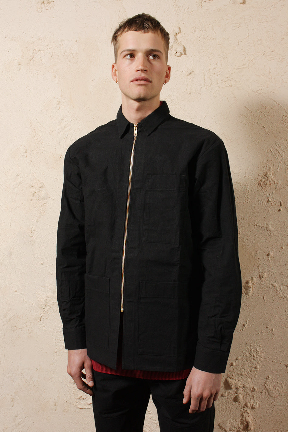 Mens Pocket Shirt Black