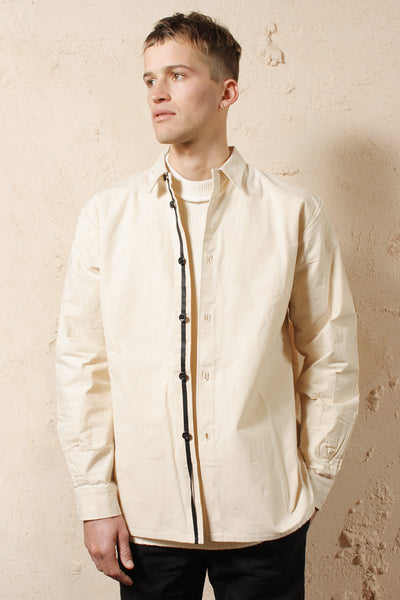 Mens Regular Shirt Unbleached