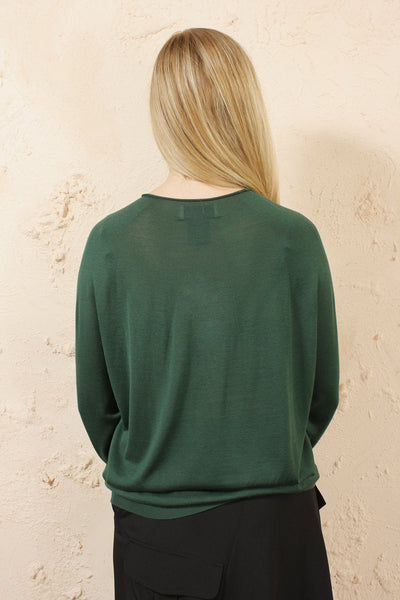 Kata Green Silk Knit