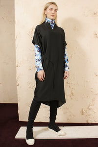 Dipha Black Tunic Dress