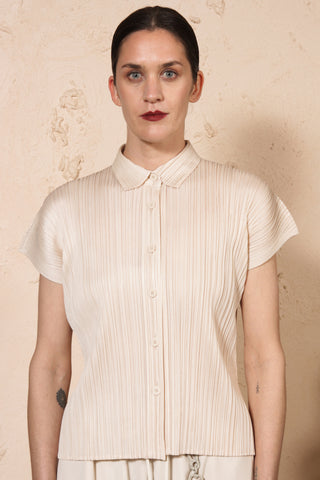 Short Sleeve Shirt Cream