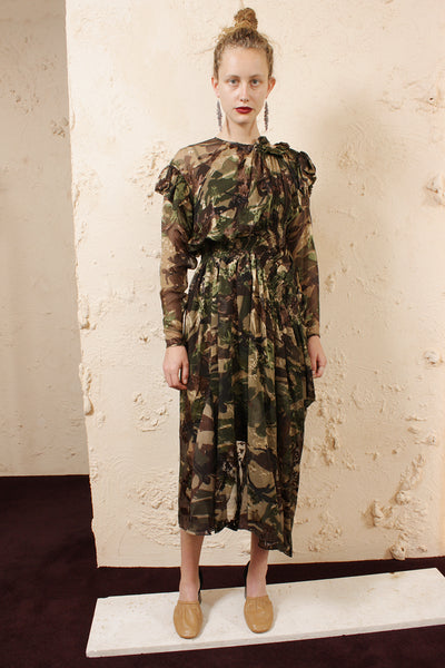 Stephanie Camo Dress