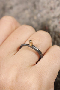 Hata Gold Icy Grey Diamond Ring