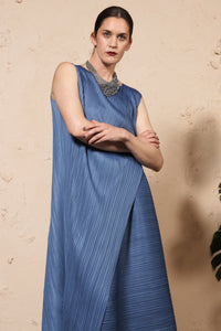 Diagonal Pleats Dress