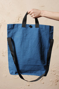 Wax Cotton Bag Blue