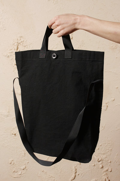 Wax Cotton Bag Black