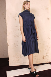 Wave Pleat Dress