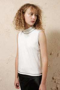Sleeveless High Neck Mist
