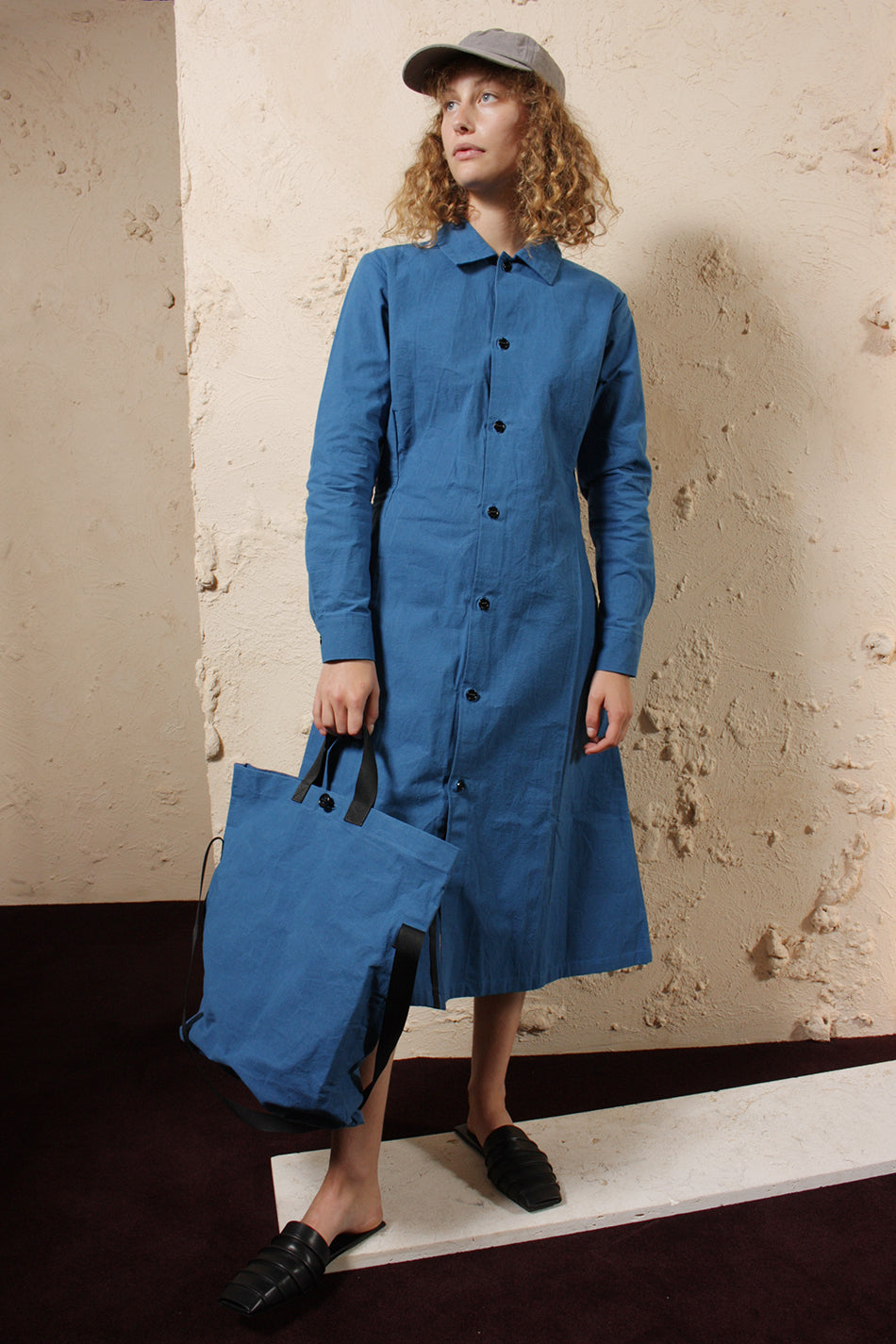 Wax Cotton Dress Uniform Blue