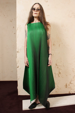 Green Bi Colour Dress