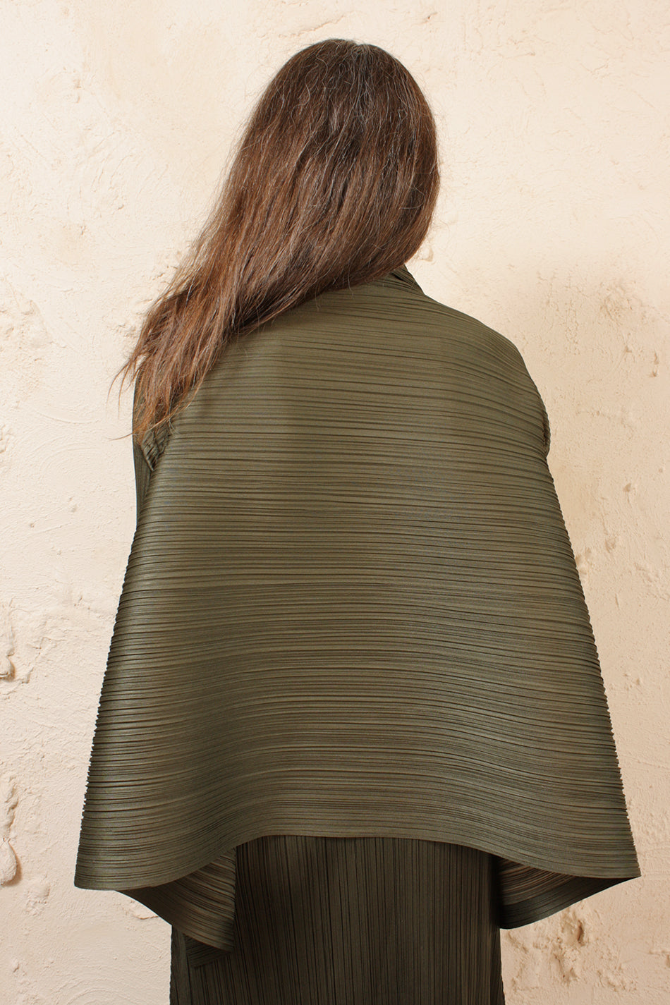Draped Khaki Cardigan