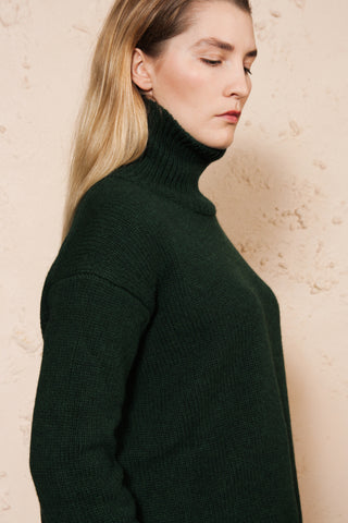Green Turtleneck Sweater