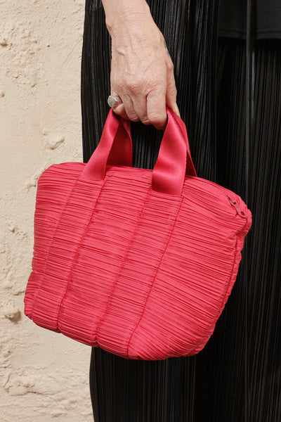 Pleated Carrybag Small Pink