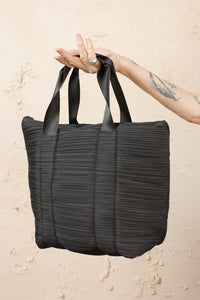Pleated Carrybag Large Black