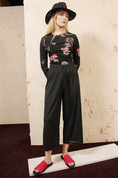 Soft Pleated Wide Trousers