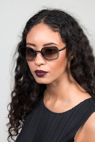 Double Wire Rectangle Sunglasses