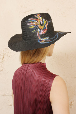 Norma Painted Cotton Hat