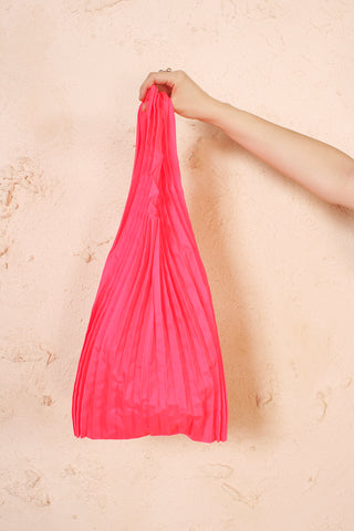 Pot Pleats Bag Red
