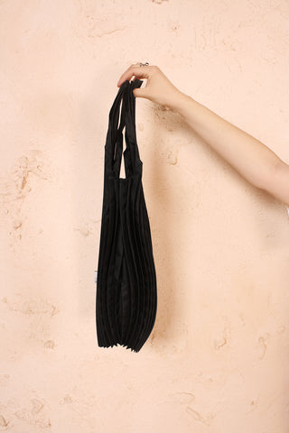 Pot Pleats Bag Black