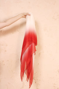 Lize Shade Scarf White and Red