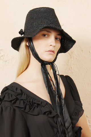 Francesco Black Paper Hat
